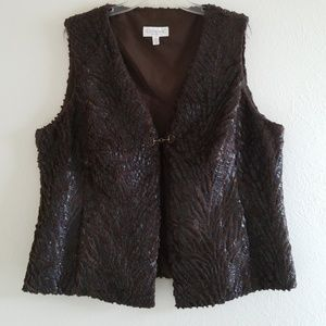 Conrad C Faux Fur Vest Sz. 16